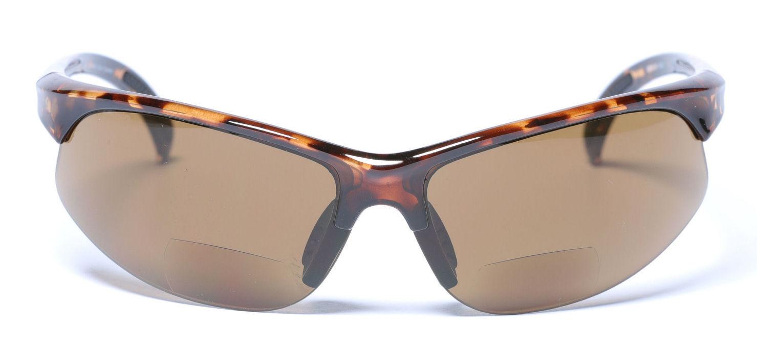 Mass-Vision-Eyewear-Sport-Wrap-Bifocal-Sunglasses-Tortoise-Front