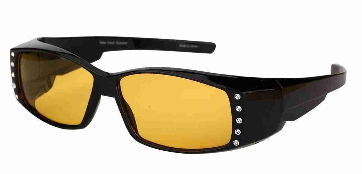 Mass-Vision-Eyewear-Rhinestone-Fit-Over-Sunglasses-Night-Lens-Black-Angle